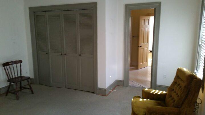 Before - Original closet door