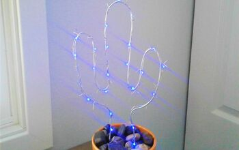 DIY Wire Cactus Light  (or Any Shape You Want!)