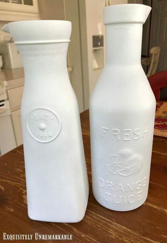 glass bottle makeover