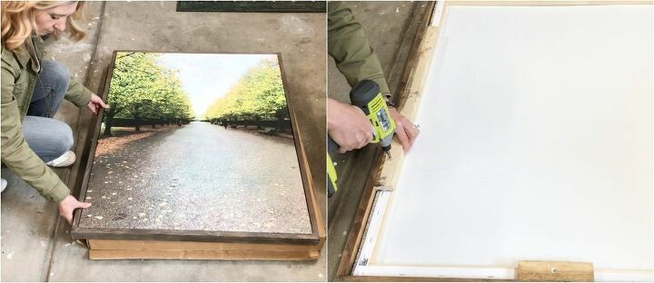 how to make an easy 3 wood canvas frame