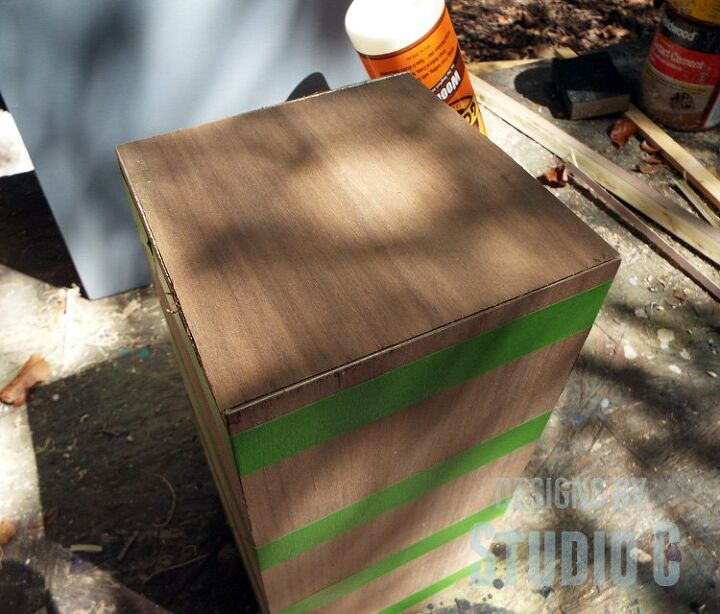 build a plywood base for a lamp