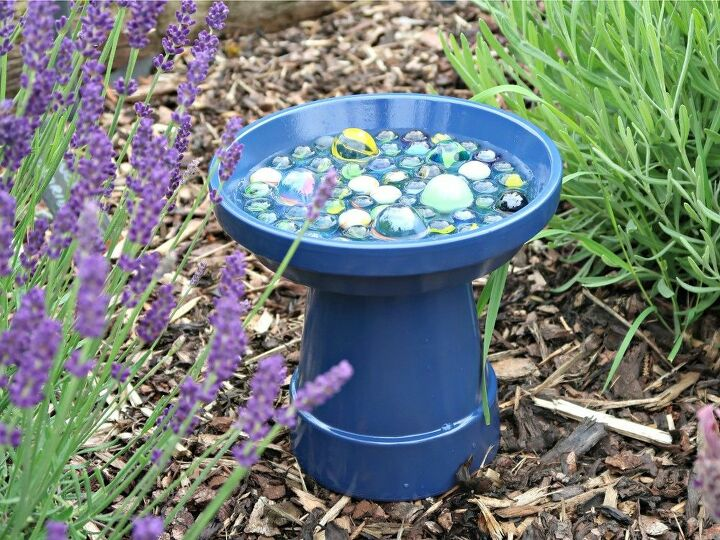 how to make a simple bee water station for your garden