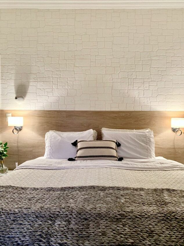 How to Make Over with White Brick Wallpaper and Vinyl Plank ...