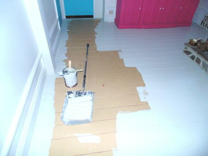 diy plywood floor makeover