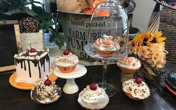 How To Make Faux/ Fake  Halloween Cupcakes 🧁