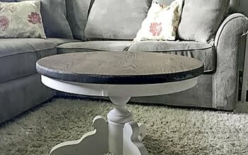 Transform an Outdated Table Into a Farmhouse Pedestal Coffee Table!
