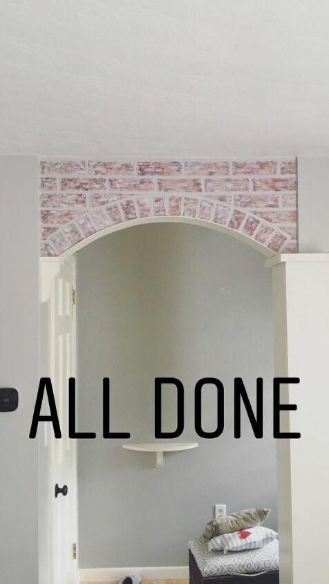 DIY Faux Brick Archway