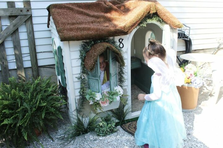 cozy cottage playhouse upcycle