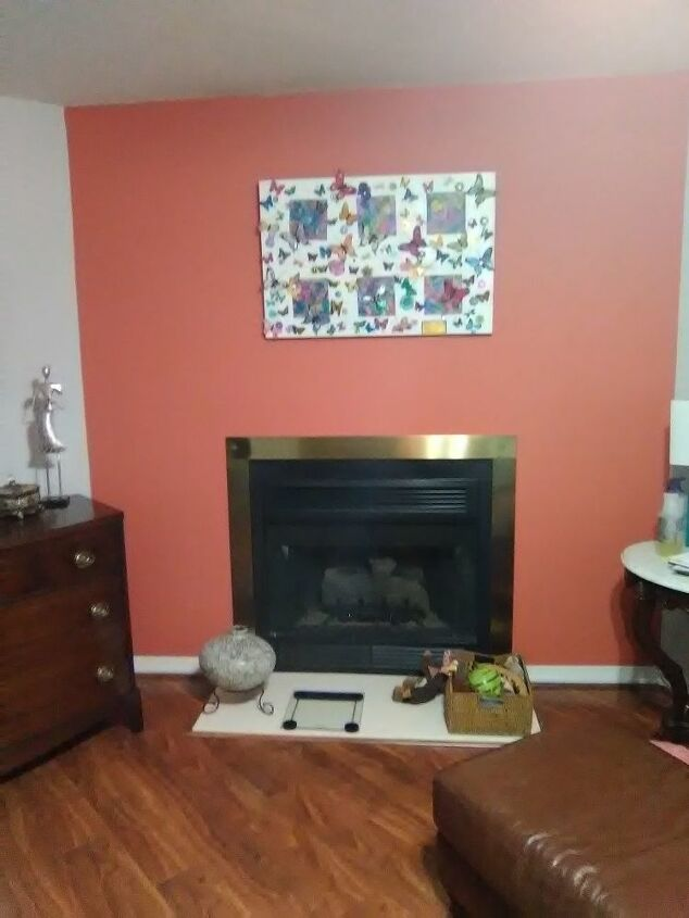 q how to brick around fire place
