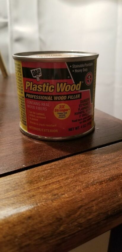 The wood filler used on the project