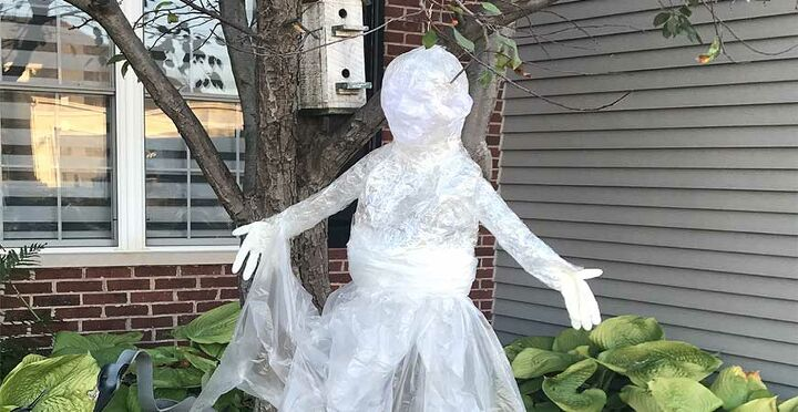 packing tape ghost tutorial spooky diy halloween decoration