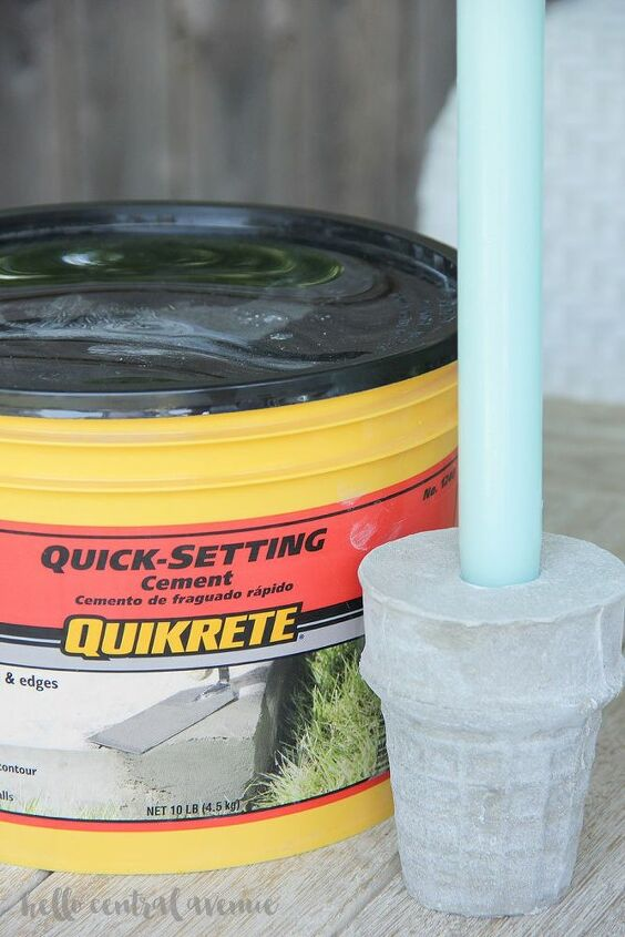 quikrete cement candle holders