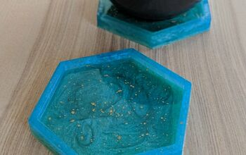 Ocean-Inspired Epoxy Resin Coasters