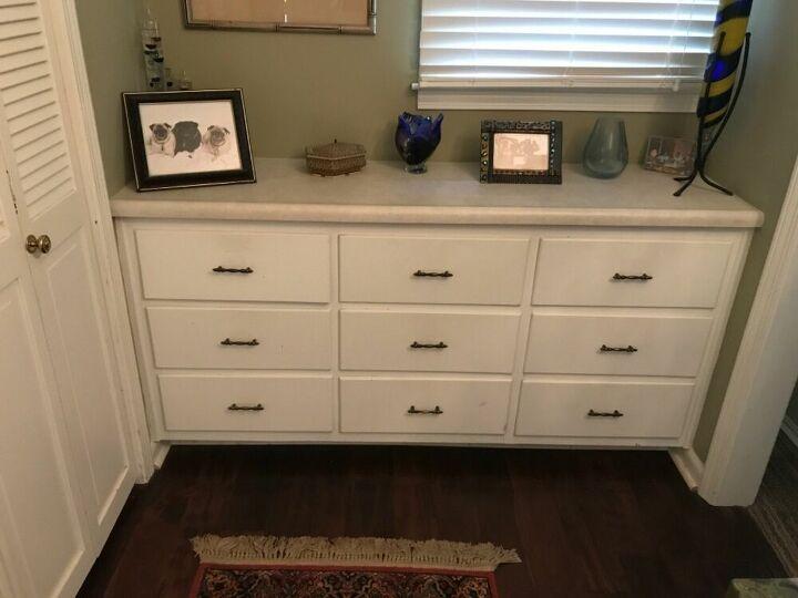q how do i replace a bathroom cabinet top