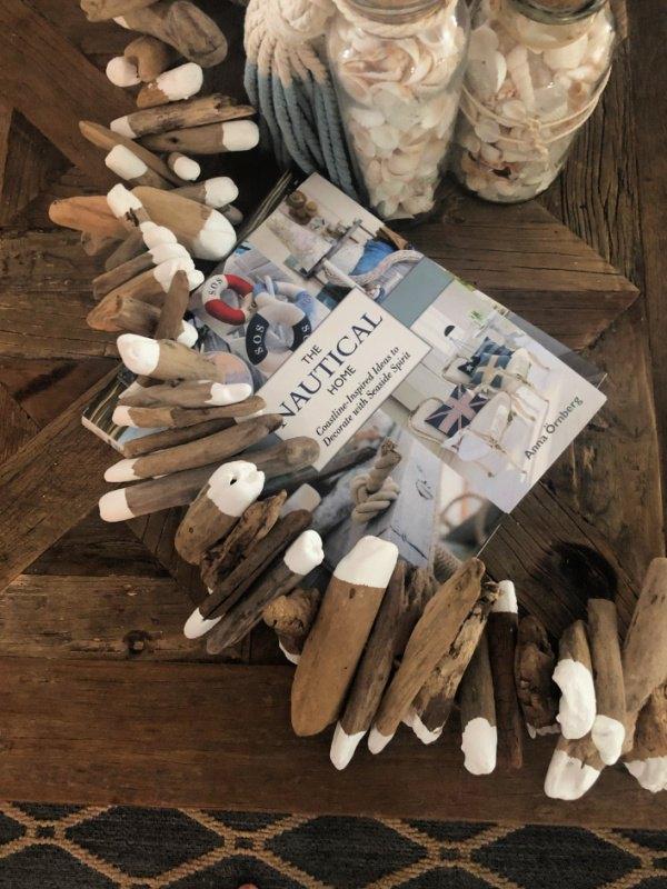 make a driftwood garland