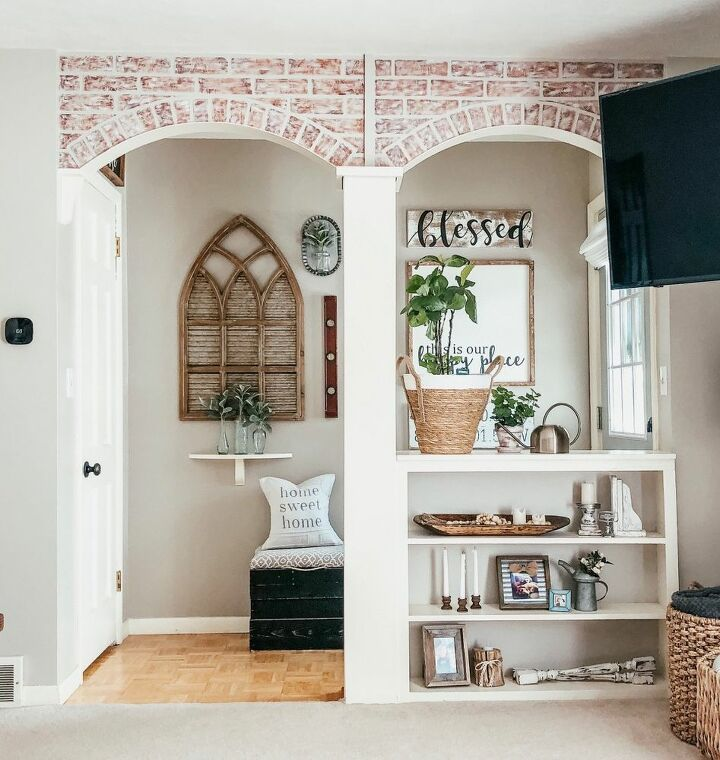 Homemade Faux Brick Archway