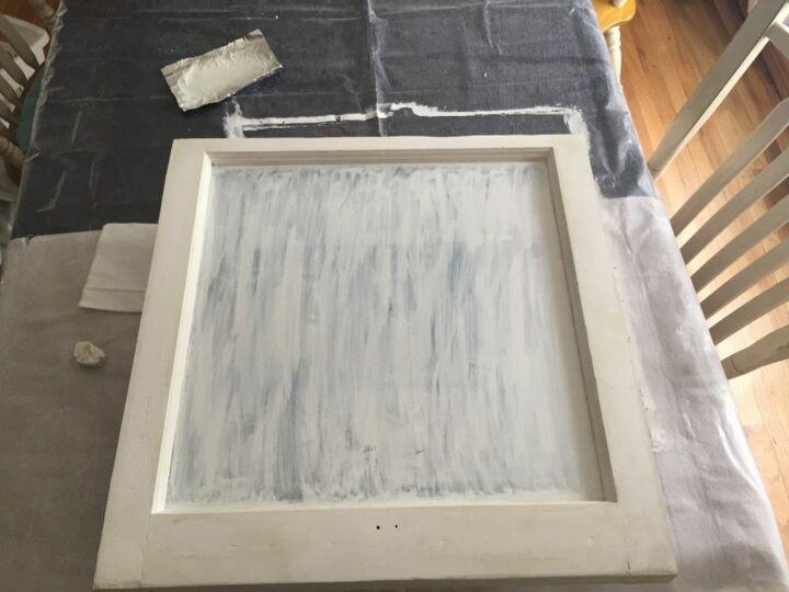 old window turned chalkboard