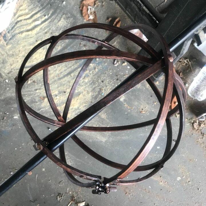 hoop orb pendant sconce
