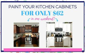 $62 DIY Kitchen Cabinet Makeover - Chalk Painted