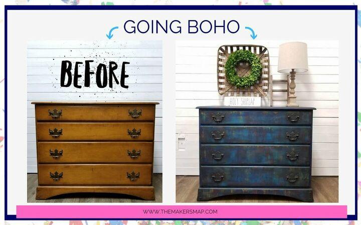Boho Bohemian Style Paint Finish