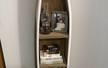 Old Wooden Ironing Board Turned Corner Shelf