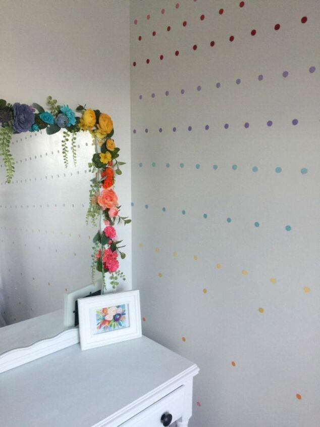 easy super cheap rainbow accent wall