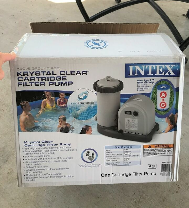 how to install a stock tank pool with a waterfall