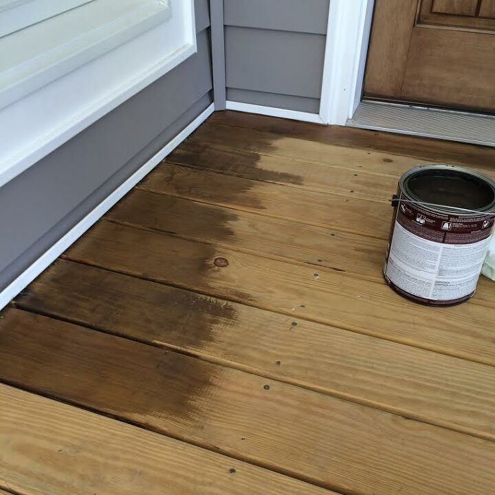 diy stained front porch