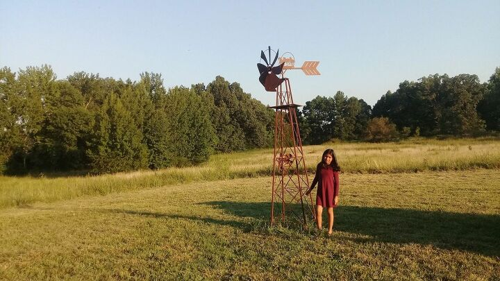 q i need recommendations to decorate a windmill on my yard