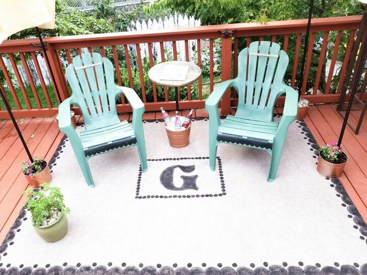 patio makeover on a dime