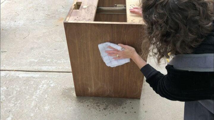 repurposed credenza sideboard