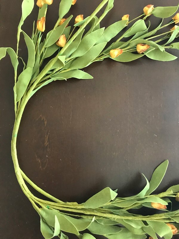 golden blooms fall wreath