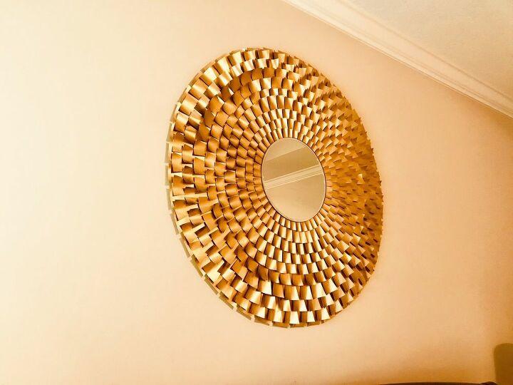 diy high end 41 starburst mirror with my free template, 41 Starburst Mirror