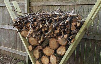 "Easiest Firewood Rack- the ""V"" Rack"