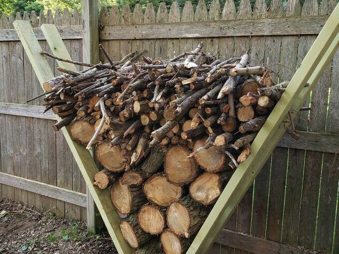 easiest firewood rack the v rack