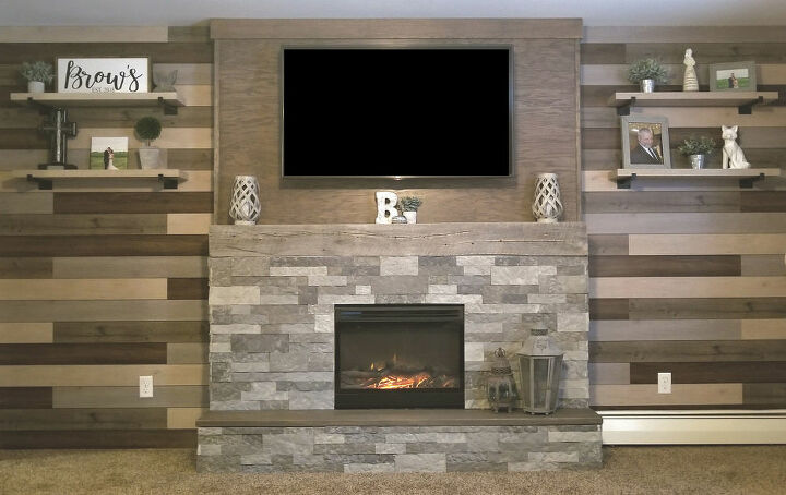 The fireplace is now the room's focal point