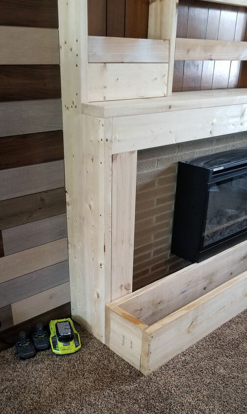 The hearth was built out of 2x12s