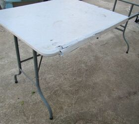 How To Upcycle Plastic Folding Table Diy Hometalk
