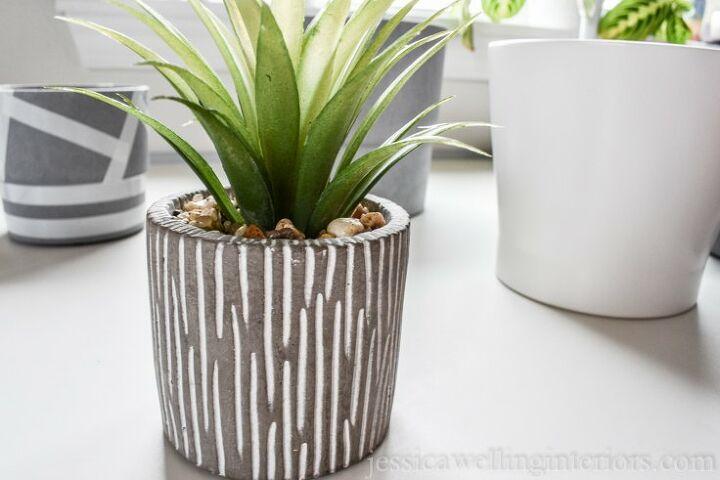 modern idoor planters with paint pens