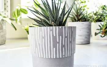 Modern Idoor Planters With Paint Pens