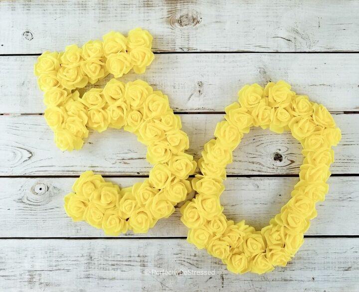 easy quick flower number or letter