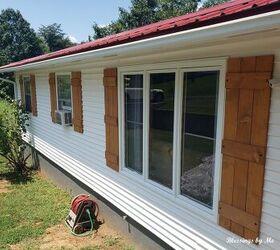 How To Build A Diy Rustic Wood Shutters Hometalk