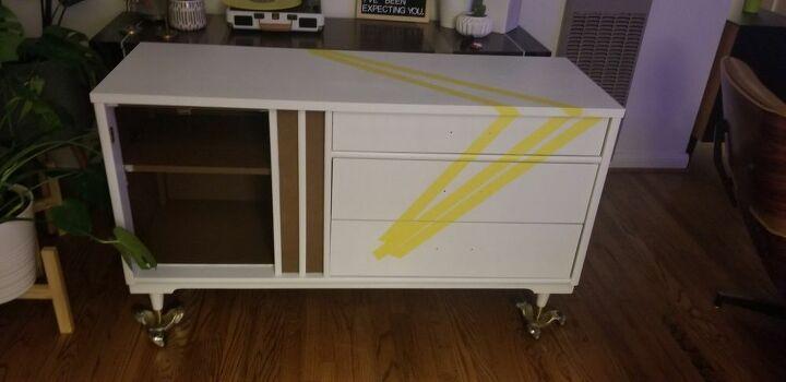 mid century modern dresser reimagined