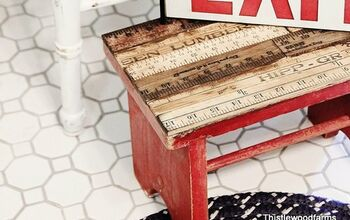 How to Make a Yardstick Stool