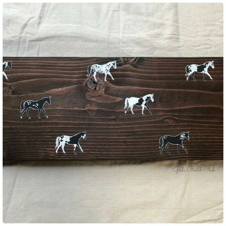 painted horse bench diy