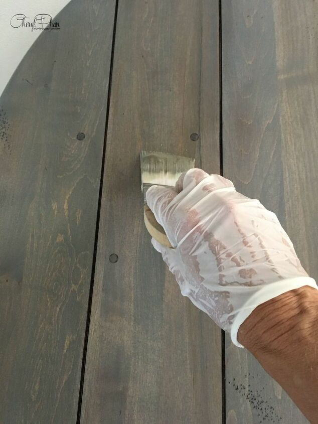weathered wood finish in 3 easy steps
