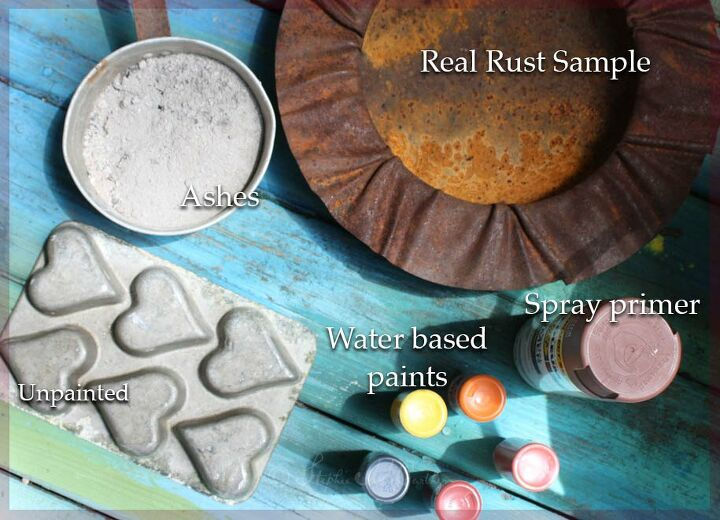 How To Paint An Easy Faux Rust Patina Using Wood Ashes Diy