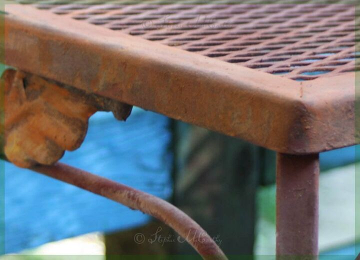 easy faux rust patina using wood ashes and paint