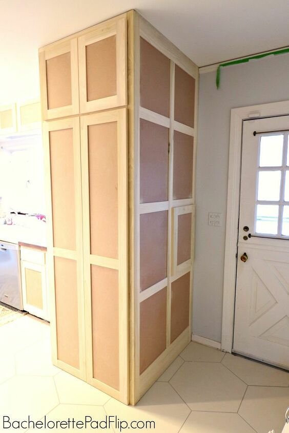 how to hide a washer dryer in a kitchen
