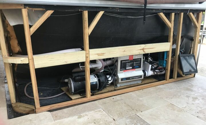 q how can we build a replacement hot tub surround